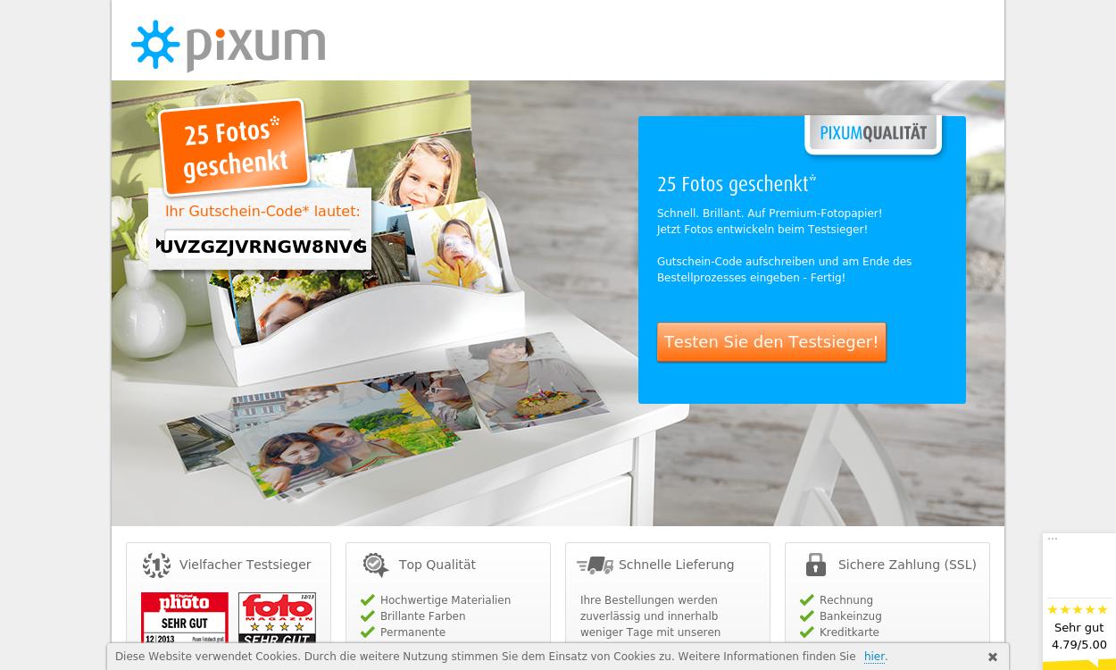 PIXUM.de - führender Online-Foto-Service