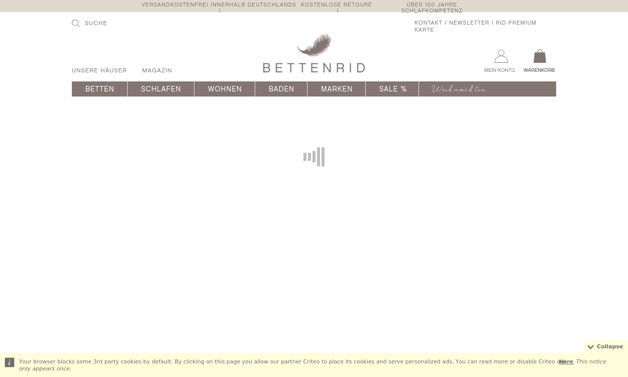 BETTENRID - Onlineshop