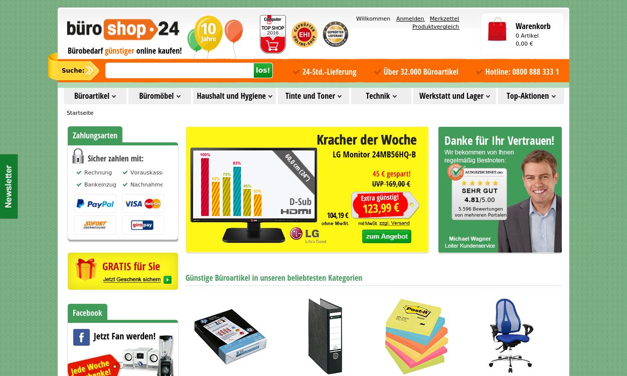 büroshop24 - Bürobedarf günstiger online kaufen!