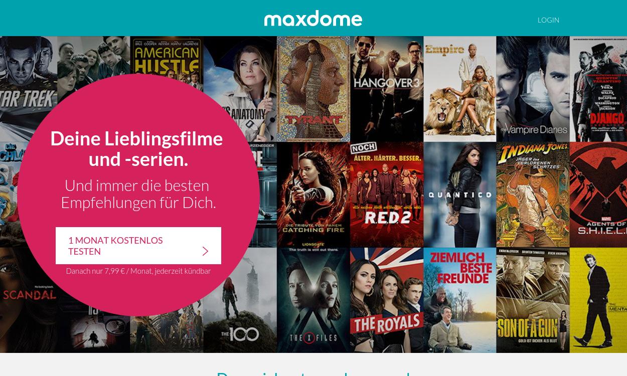 maxdome - Deutschlands größte Online-Videothek
