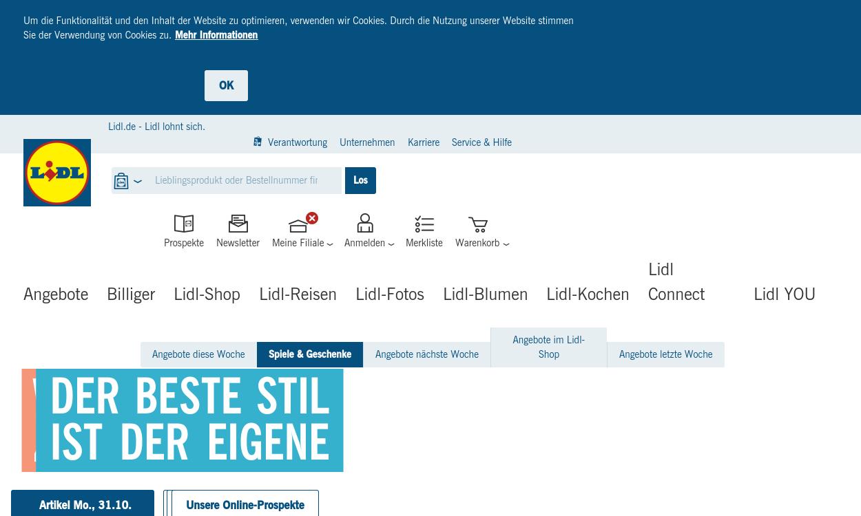 Lidl - Online-Shop, Reisen, Fotos & Blumen
