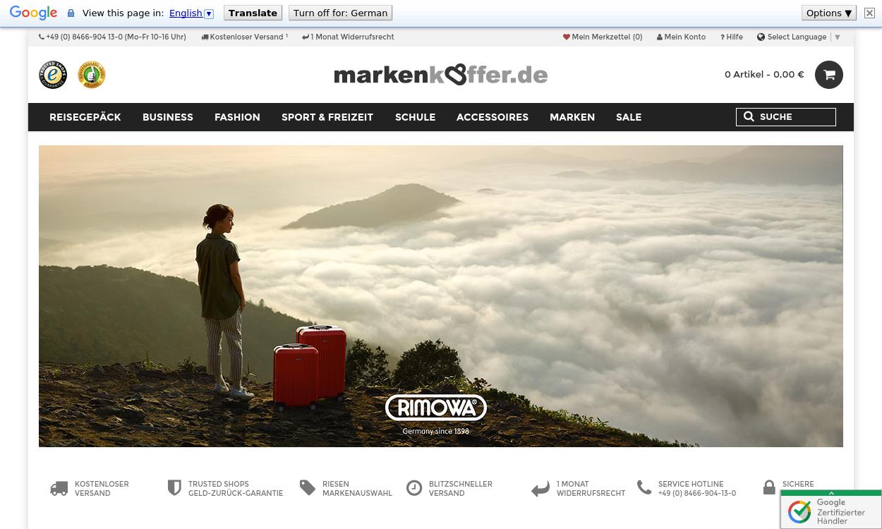Markenkoffer.de Reise- und Businessgepäck