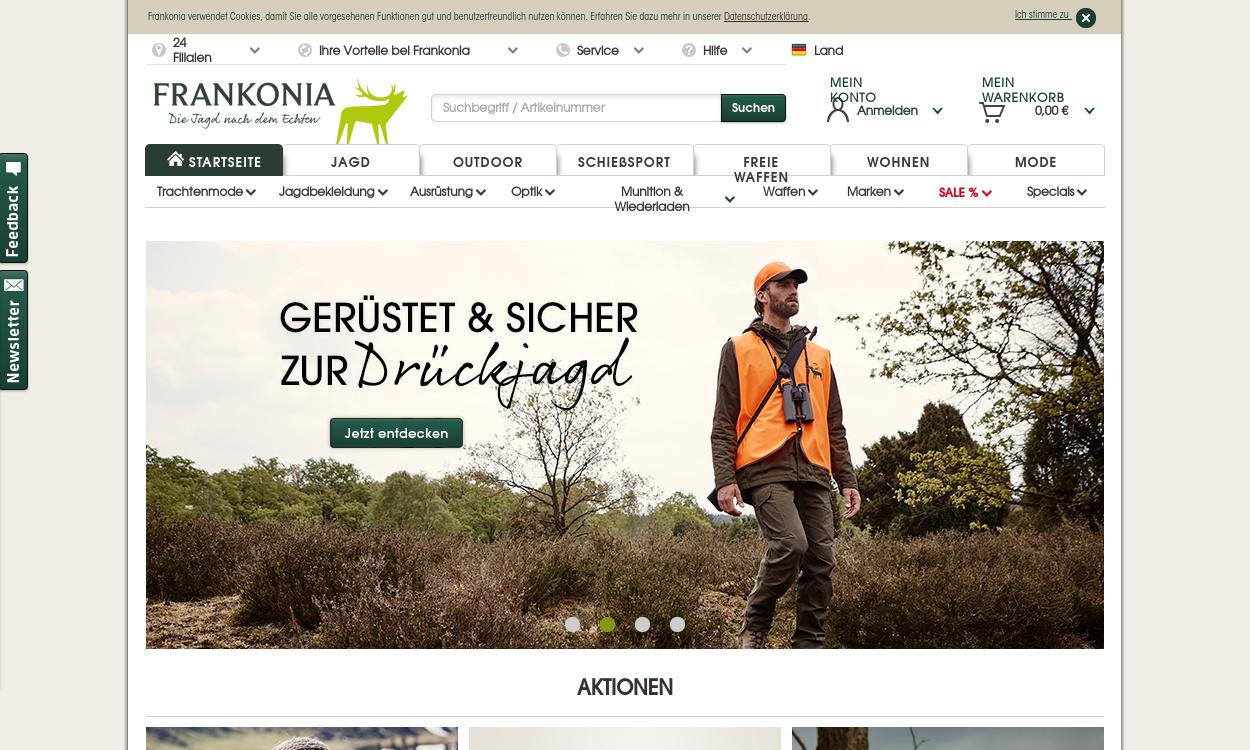 Frankonia - Ausrüster für Jagd & Sportschützen