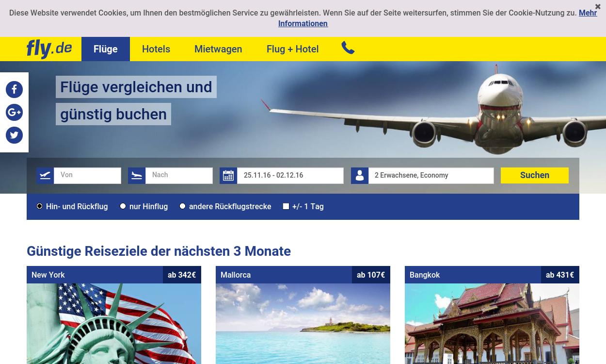fly.de – Das unabhängige Flug-Vergleichsportal