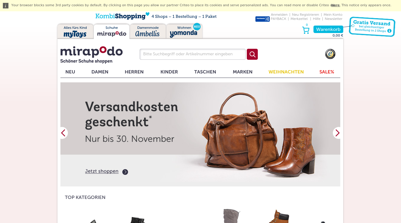 mirapodo - Schöner Schuhe shoppen