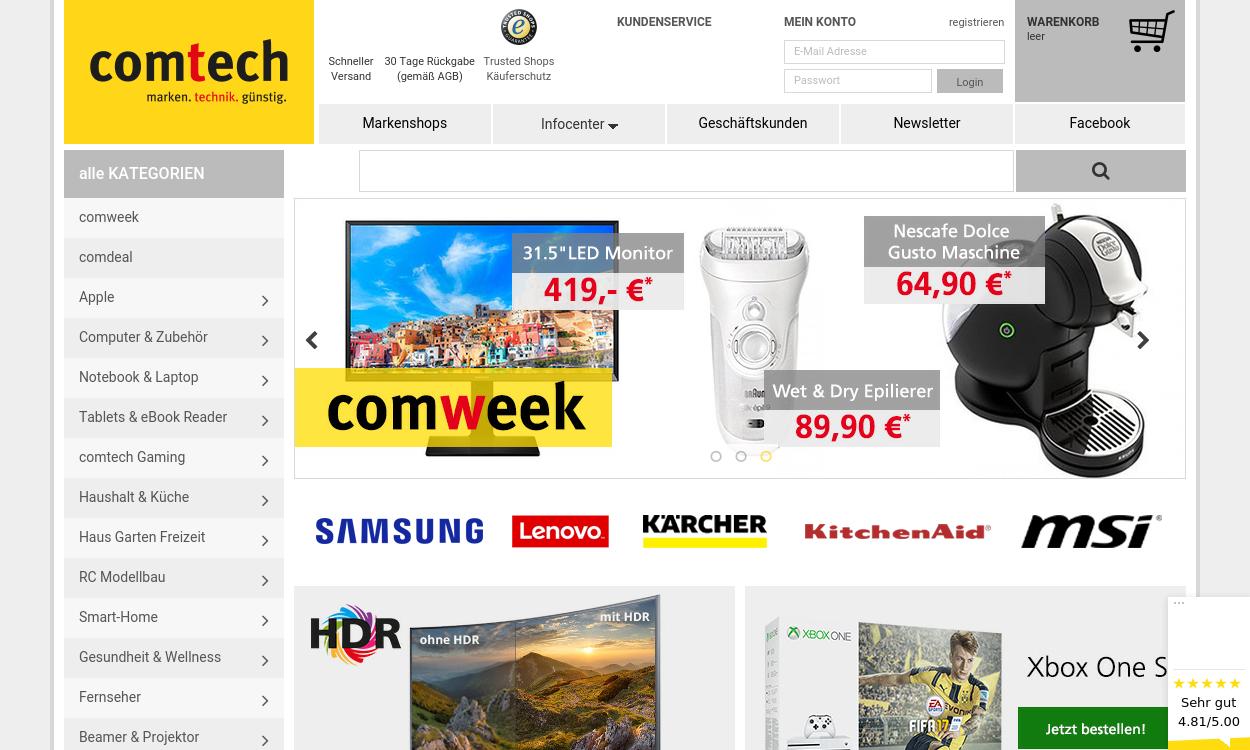 Comtech.de - Marken, Technik, günstig