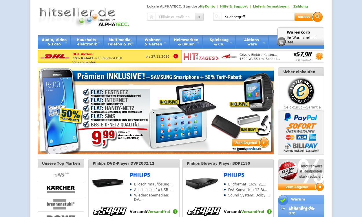 hitseller.de - Elektronik, Spielwaren, Heimwerken