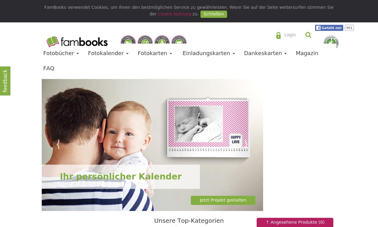 FamBooks - Fotobücher, Kalender & Karten gestalten