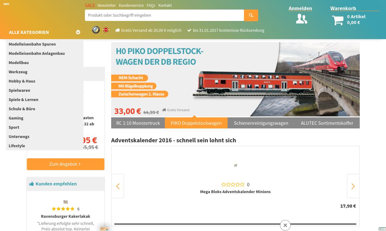 smdv.de - Spielwaren, Modellbau, Modelleisenbahn