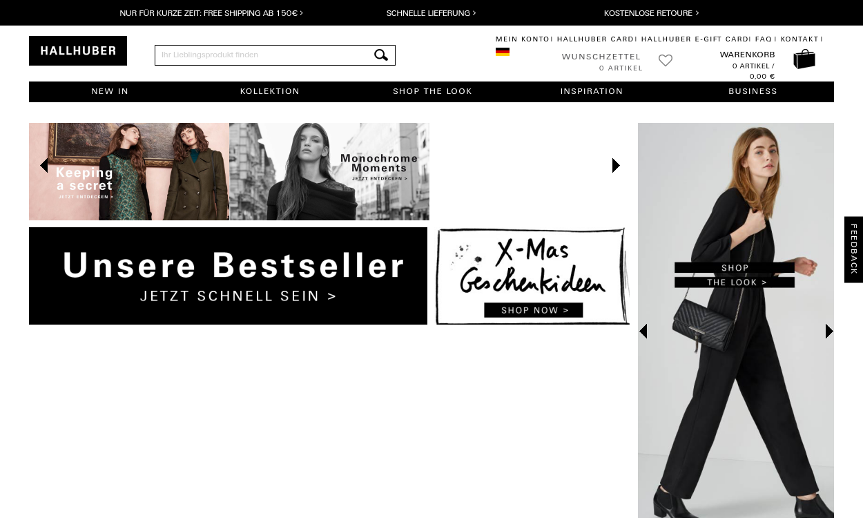 HALLHUBER Online Shop