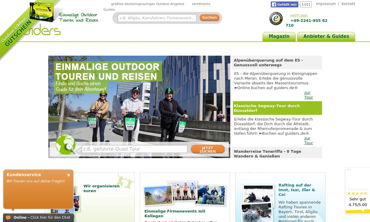 guiders.de - der Guide ist die Tour