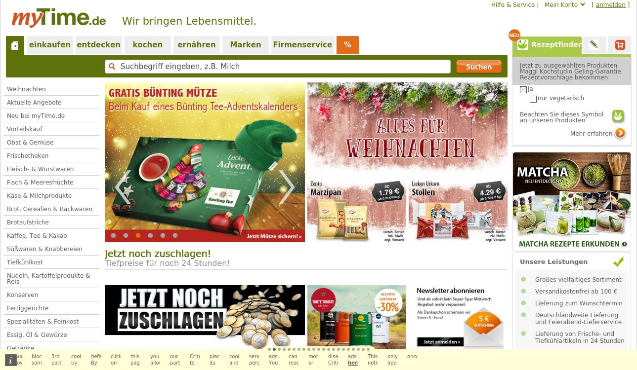 myTime.de - Wir bringen Lebensmittel.