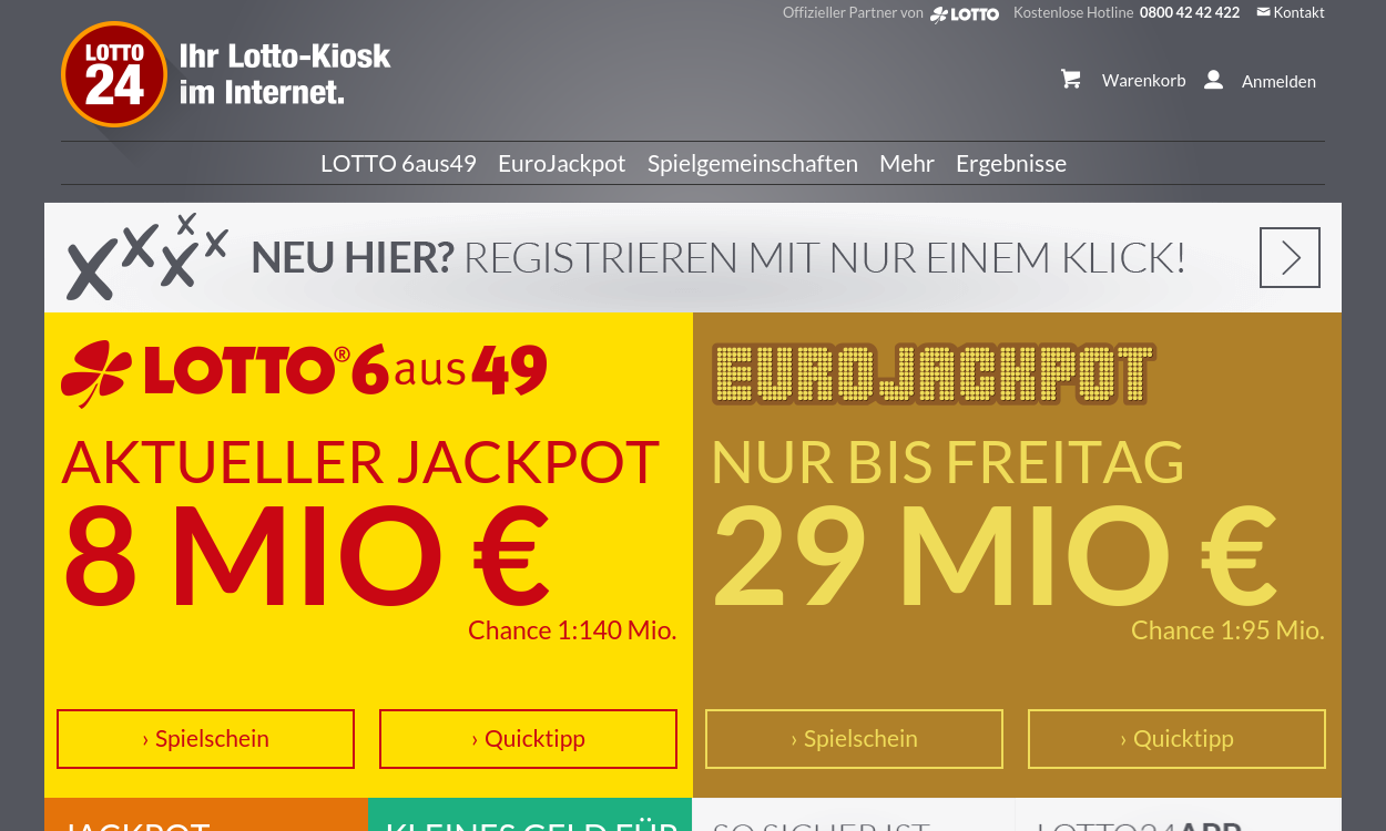 LOTTO24 - Ihr Lotto-Kiosk im Internet.