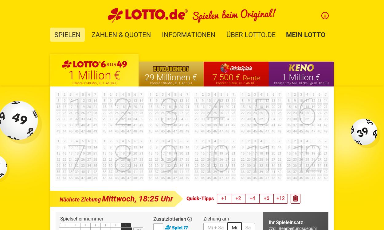Lotto.de - Spielen beim Original
