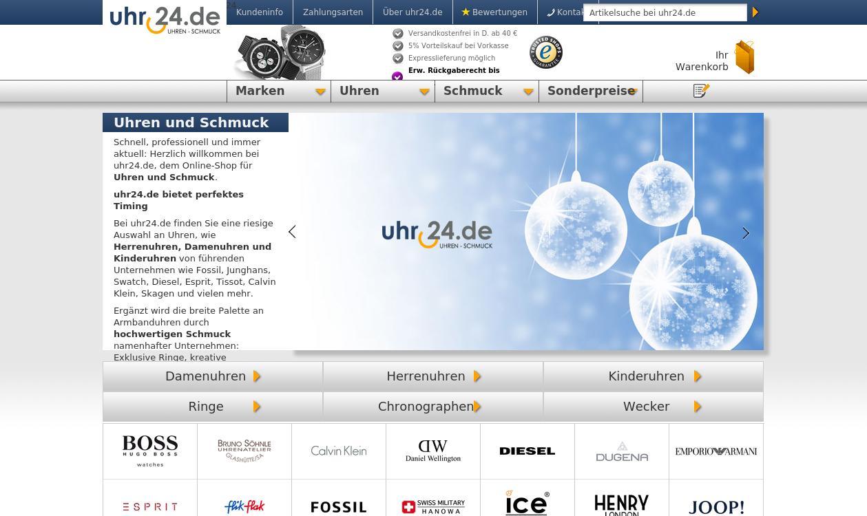Uhren und Schmuck - uhr24.de